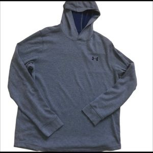 UNDER ARMOUR Waffle Hoodie Blue Men's Large